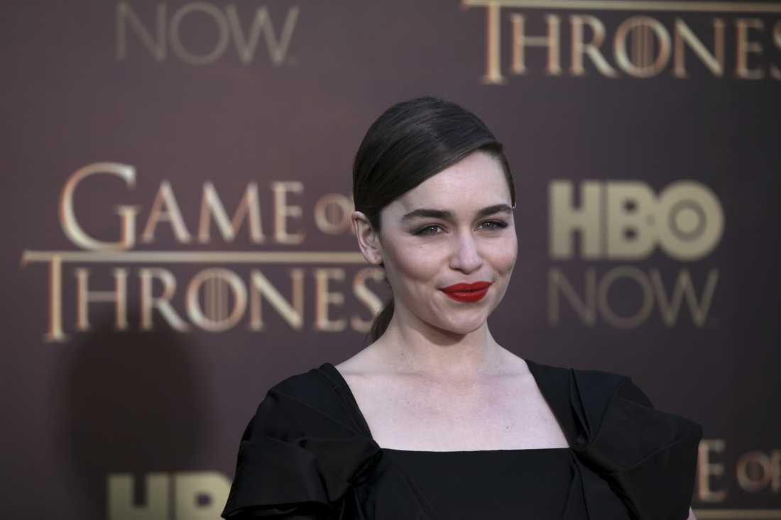 """Emilia Clarke på galapremiär för """"Game of thrones"""" i måndags."""