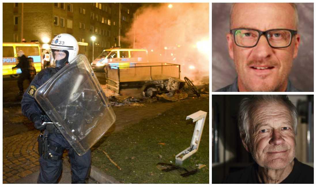 Debattörerna Staffan Norberg och Per Sundgren tycker att vänstern har svikit förorterna och skriver: Vänstern har lämnat walk over i denna för folkopinionen allt viktigare fråga, kriminalitet samt lag och ordning.
