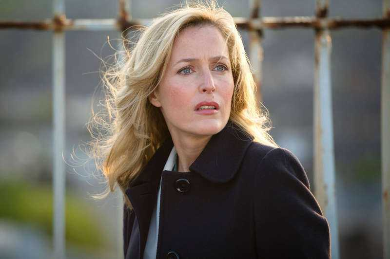 "Gillian Anderson i ""The fall""."