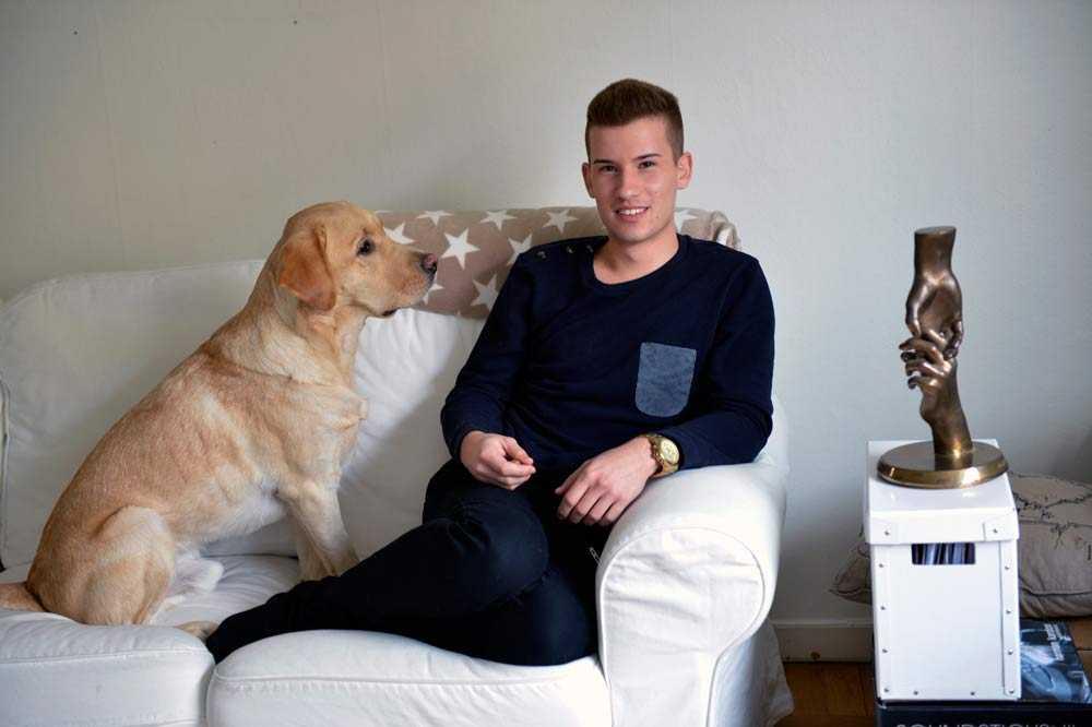 """""""Mitt viktigaste budskap är att våga ingripa"""", säger Kristian Kabelacs, 21."""