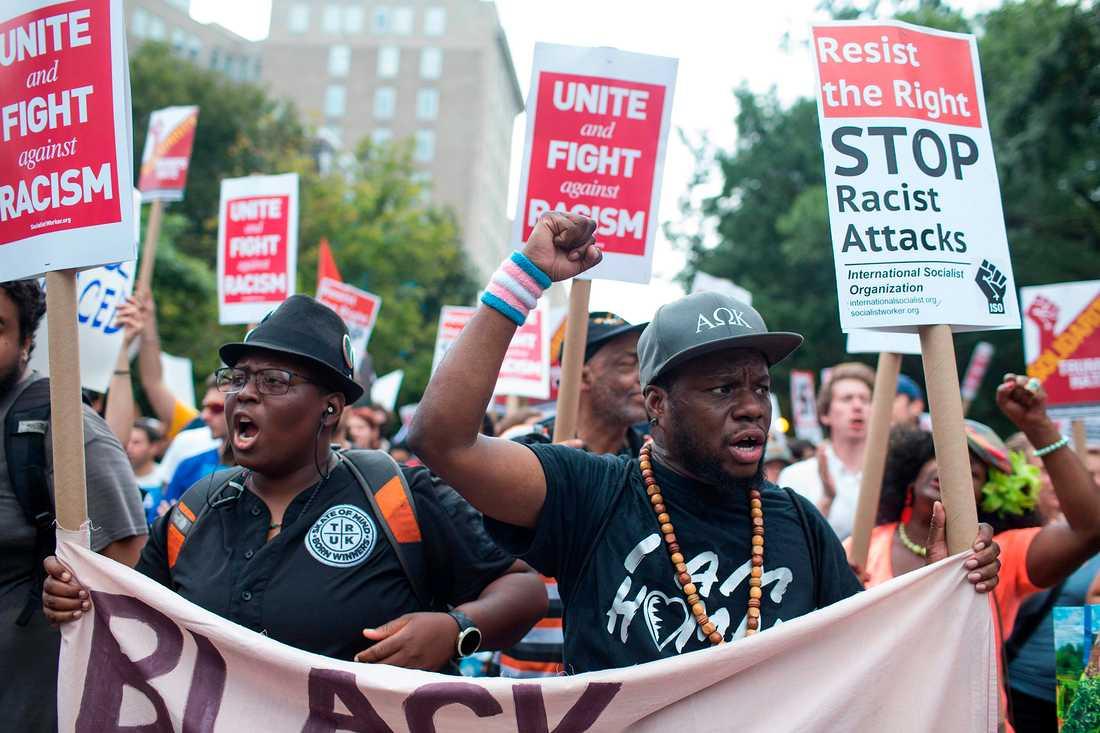Antidemonstranter i Washington.