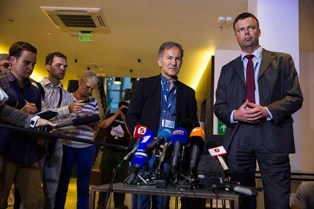 OSSE höll en presskonferens.