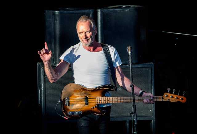 Sting solar sig i Stockholm för artonde gången sedan konsertdebuten 1979.
