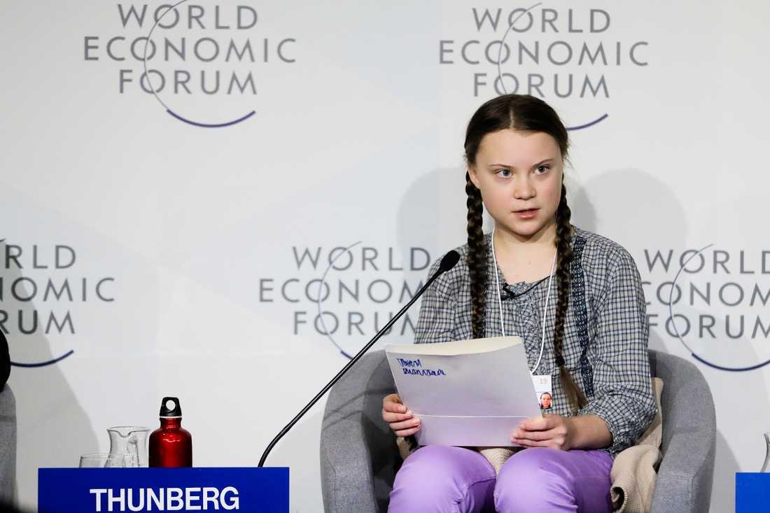 Greta Thunberg i Davos.