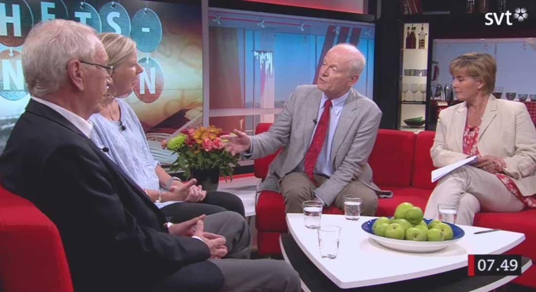 """""""Det visar väl hur enormt betydelselöst det här besöket var"""", sa författaren Göran Hägg i SVT:s morgonsoffa."""