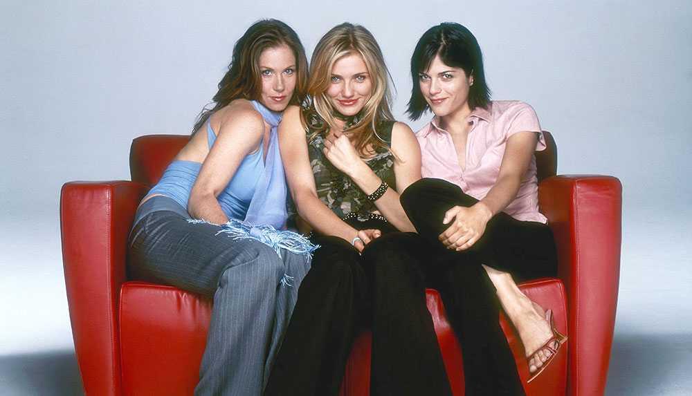 """Christina Applegate, Cameron Diaz och Selma Blair i """"Snygg, sexig och singel"""" från 2002."""