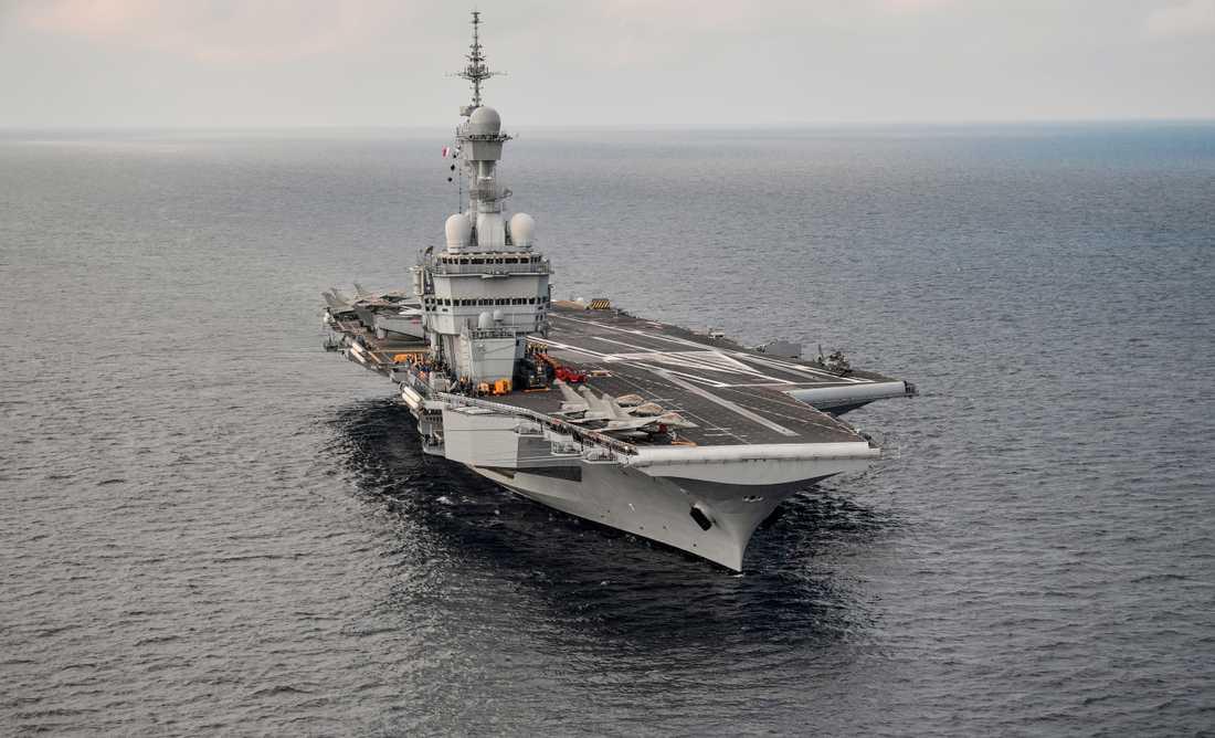 Charles de Gaulle är den franska flottans enda hangarfartyg. Arkivbild.