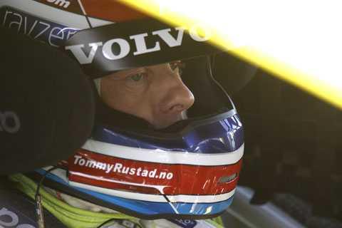 Tommy Rustad vann det första racet på Jyllandsringen.