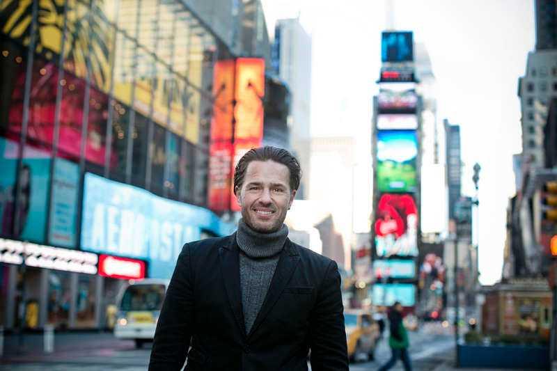 """Fantom-inhopp Peter Jöback på Broadway i New York där han senare i år ska spela """"Fantomen på operan""""."""
