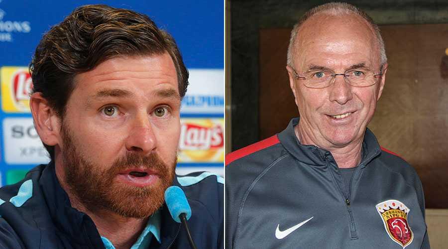 Förre Chelsea- och Tottenham-tränaren André VIllas-Boas uppges ta över efter Svennis i Shanghai.