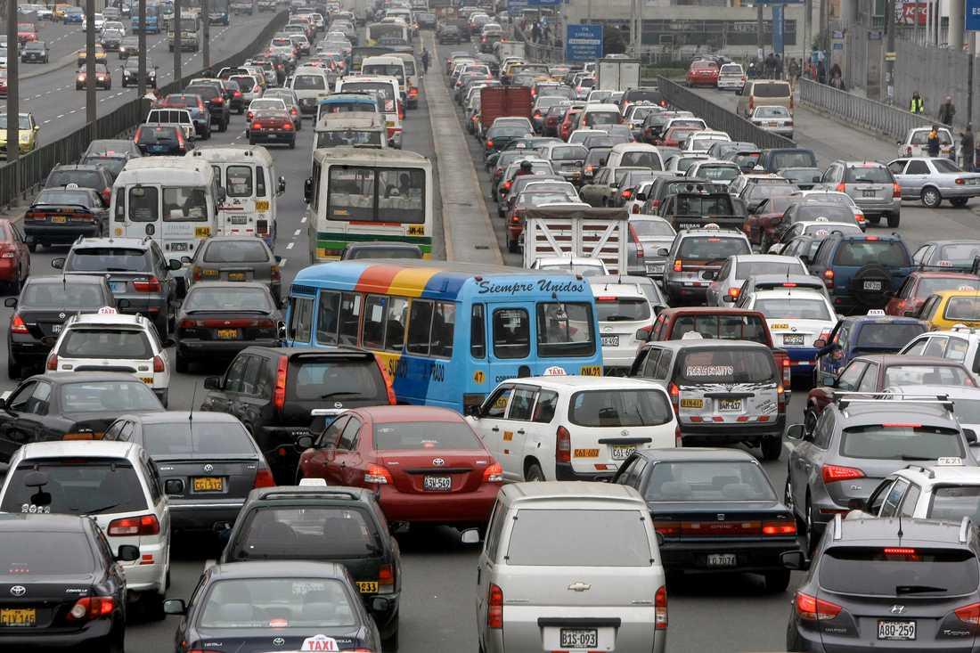 Vägtrafiken i Peru kräver i genomsnitt nio liv per dygn. Arkivbild.
