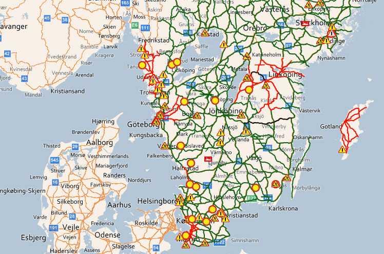 BESVÄRLIGT LÄGE På trafikinfo.trafikverket.se kan du följa läget på vägarna.