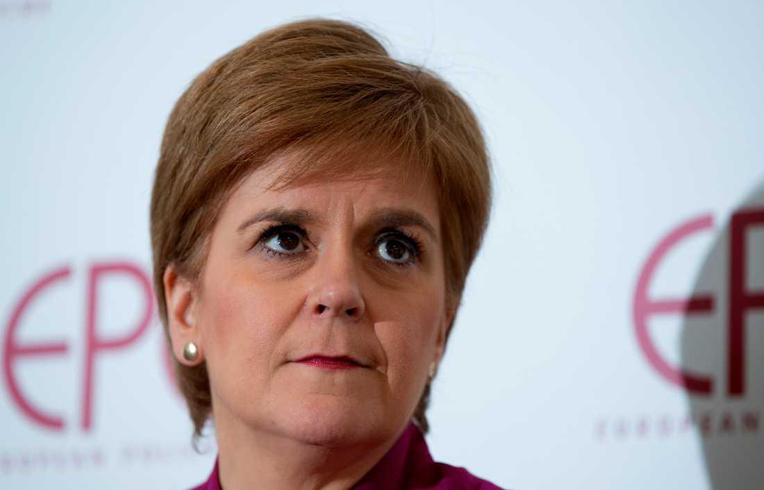 Skottlands regionala regeringschef Nicola Sturgeon håller tal hos tankesmedjan EPC i Bryssel den 10 februari.