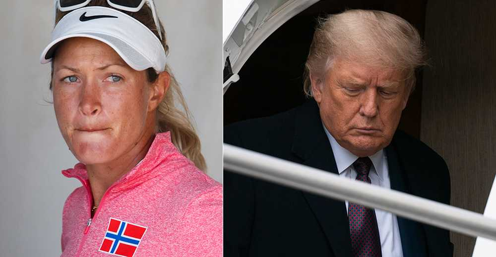 Suzann Pettersen och Donald Trump.