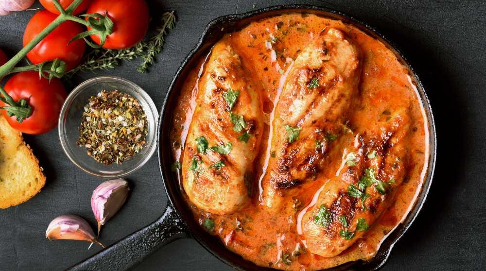kyckling i ugn grädde parmesan