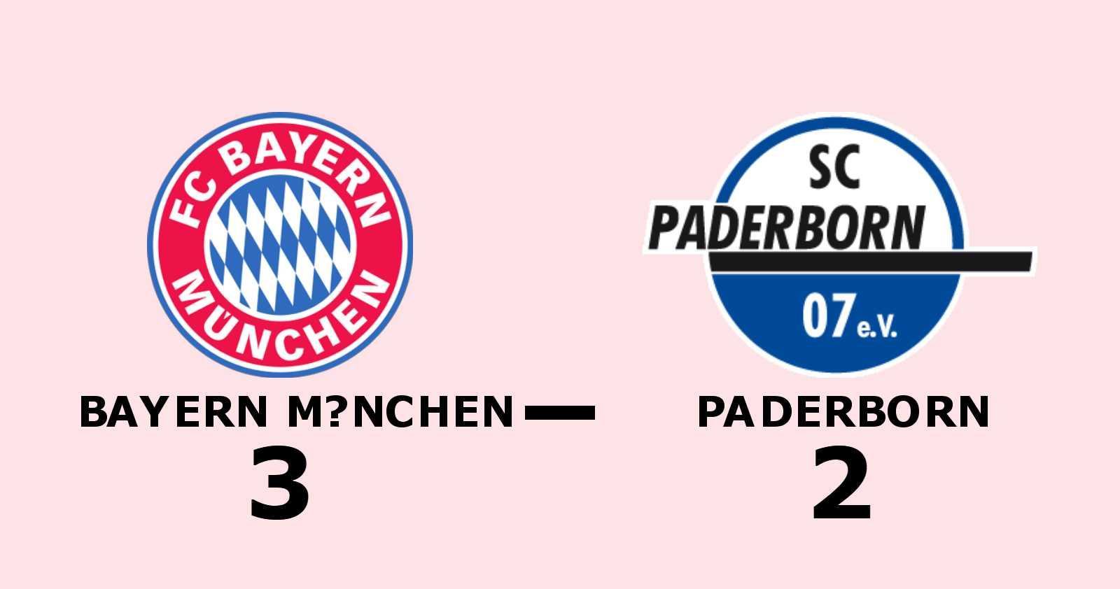 Bayern München svårslaget - nionde matchen i rad med poäng efter 3–2
