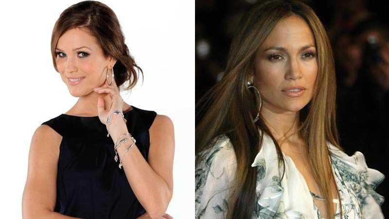 Marie Serneholt och Jennifer Lopez.