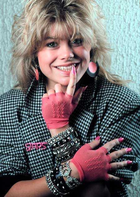 Pernilla Wahlgren är tillbaka i schlagersammanhang. Denna bild togs 1988.
