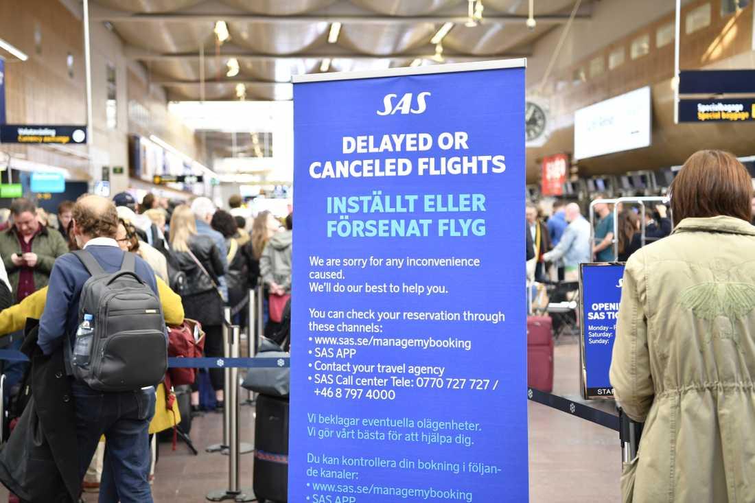 Du kan få ersättning om du drabbas av flygstrejken.