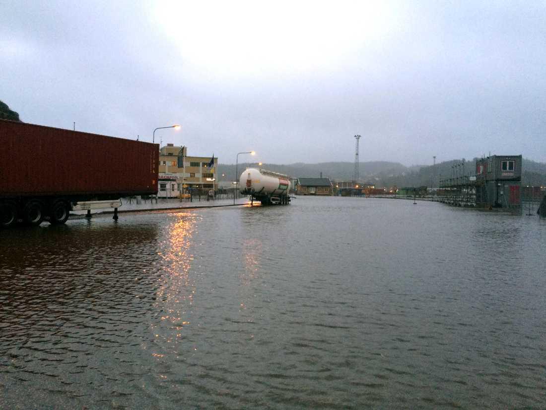 Översvämning i Uddevalla.