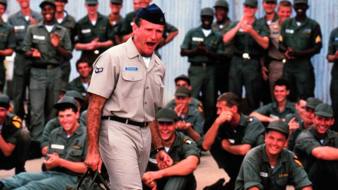 "Adrian Cronauer in director Barry Levinsons comedy drama, ""Good Morning Vietnam."
