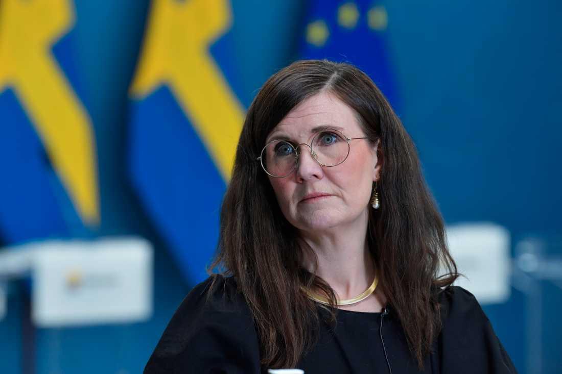 Märta Stenevi (MP), jämställdhetsminister.