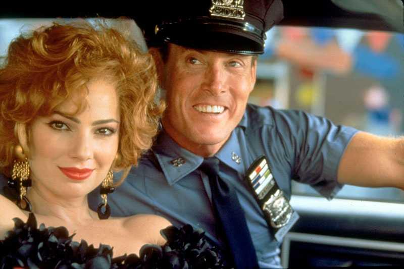 "Fran Drescher med John C. McGinley i ""Galna snutar i New York"" 1994."