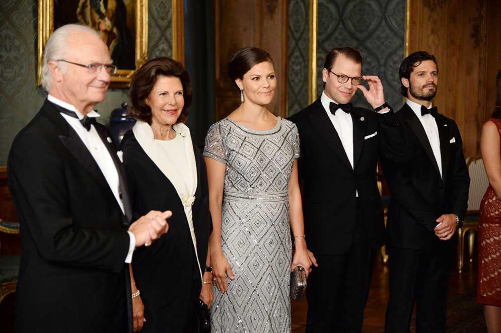 Kungafamiljen på Sverigemiddagen.