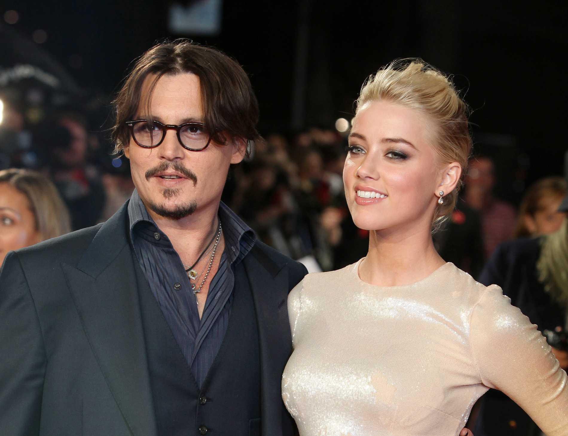 Johnny Depp och exfrun Amber Heard.