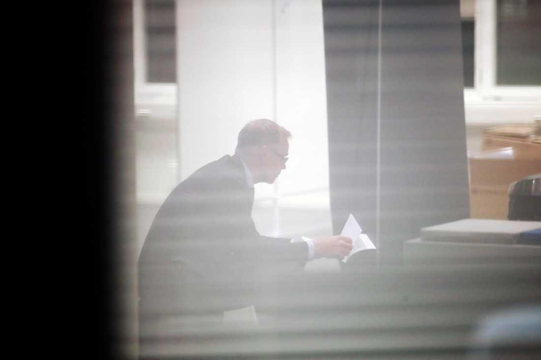 Rickard Gustafsson, strax före presskonferensen.