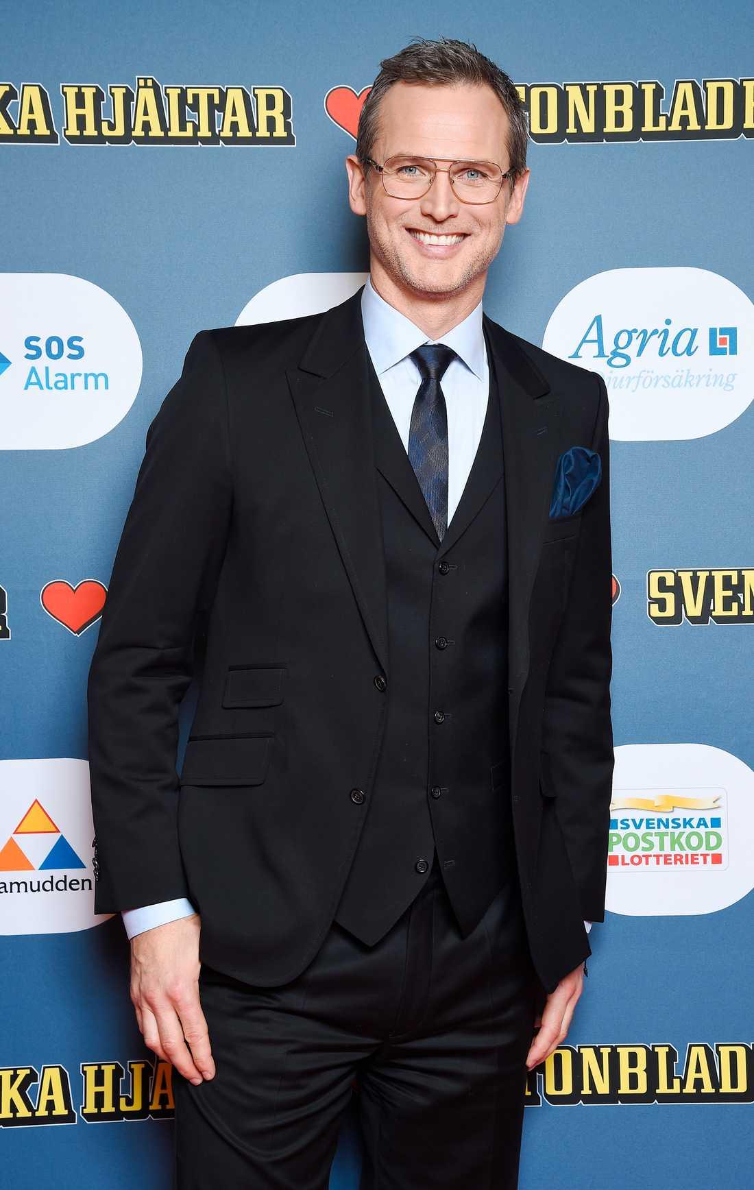 Rickard Sjöberg delade ut pris senare under kvällen.