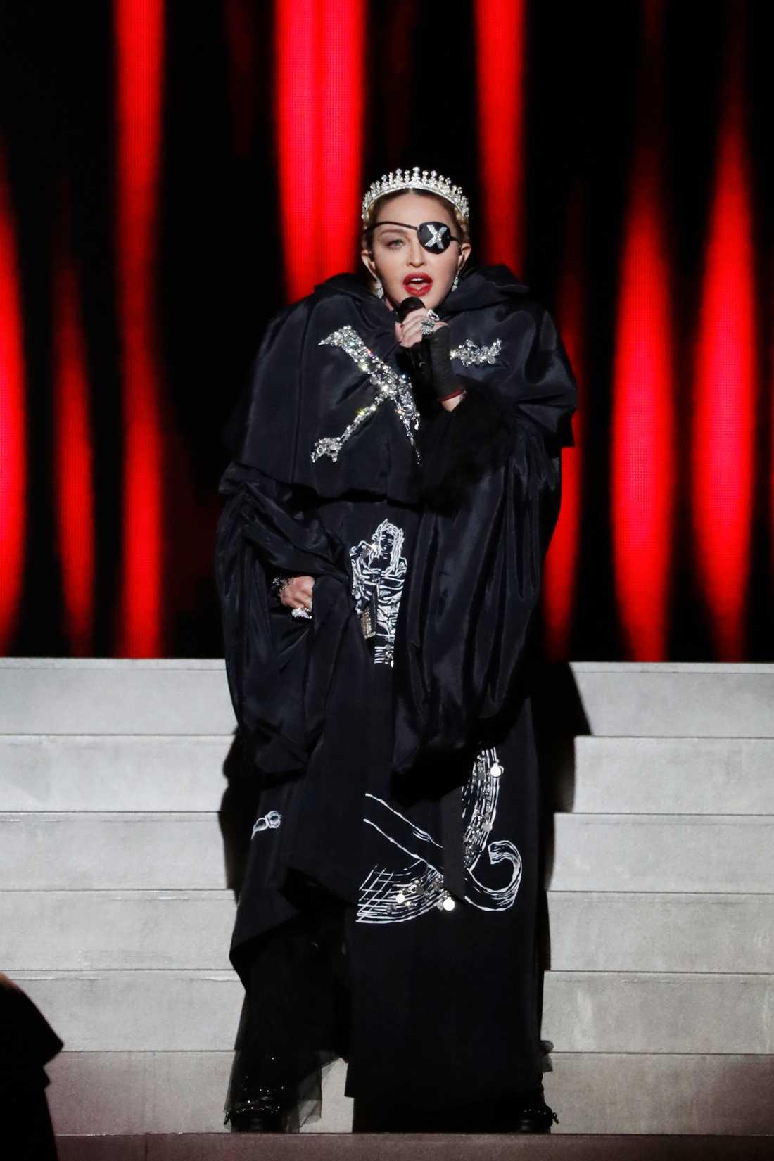 "Madonnas framträdande under ""Eurovision song contest"" 2019"