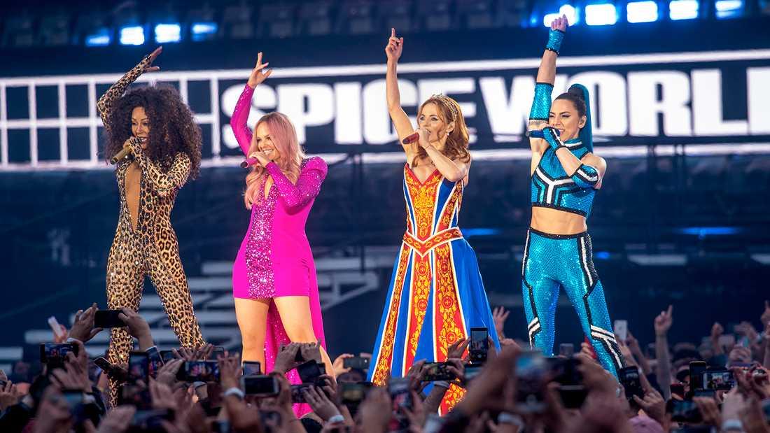 Spice Girls återföreningn i Dublin på fredagskvällen.