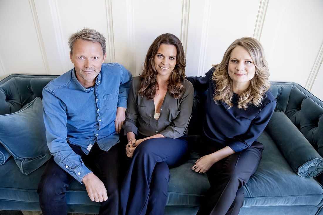 Felix, Clara och Moa Herngren.