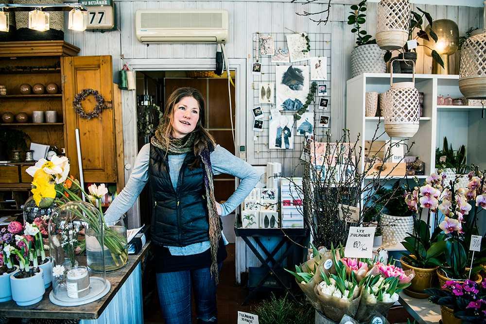 Maria Mellström driver Årsta Blomsterhandel i Stockholm och har över 20 års erfarenhet i branschen.