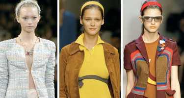 Diadem högsta mode på Chanels och Miu Mius visnignar.