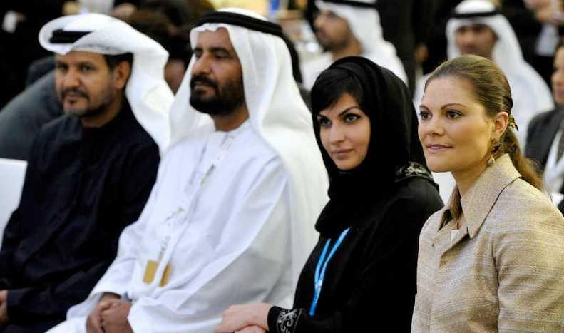 Kronprinsessan är just nu på besök i Abu Dhabi.