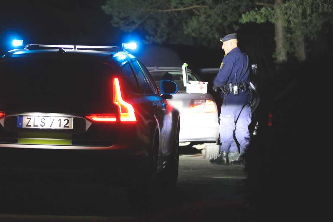 En polispatrull i Solna.