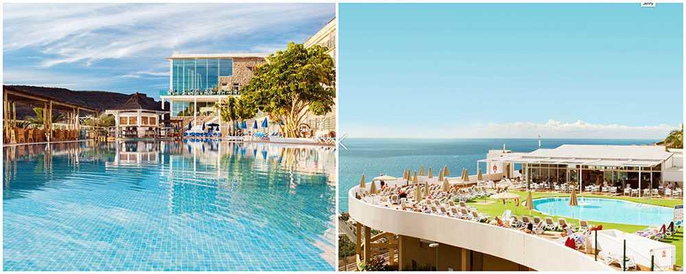 Mogan Princess & Beach Club ligger vid Playa de Taurito och har ett stort och fint poolområde. Altamadores är ett modernt hotell med härlig utsikt över havet.