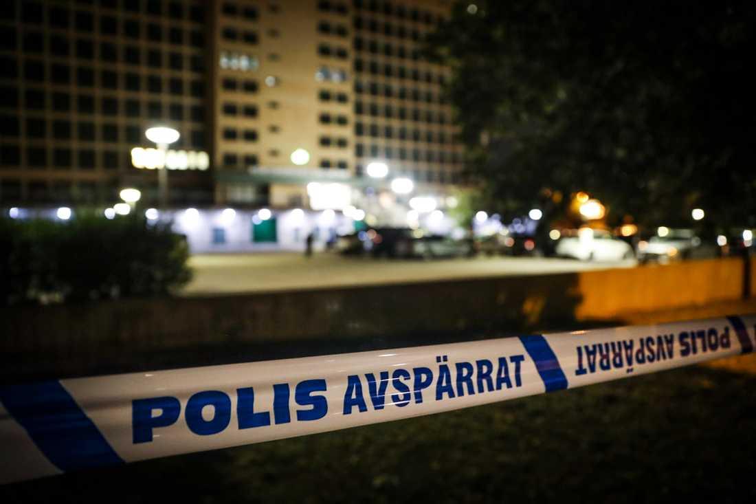 Polisen söker efter två rånare i Västerås. Arkivbild.