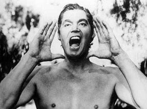 Johnny Weissmuller som Tarzan back in the days.