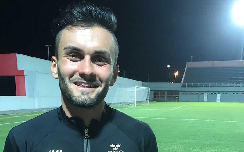 Berisha när Sportbladet träffar honom i Brasilien