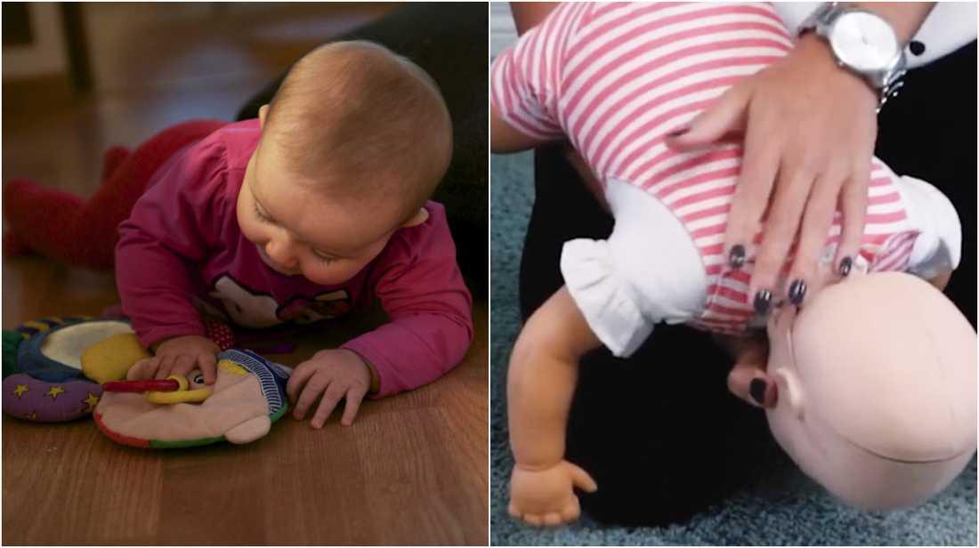 Så gör du om din bebis sätter i halsen.