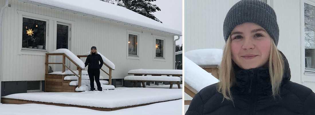 Elin Ögren trivs väldigt bra i sitt hus och är glad att hon hade möjlighet att köpa ett trots sin unga ålder.
