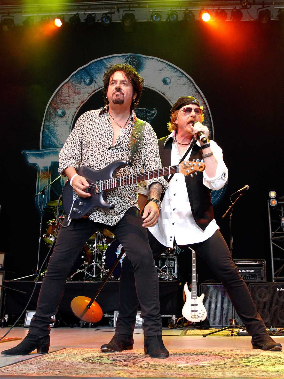 "Steve Lukather and Joseph Williams i ""Toto""."