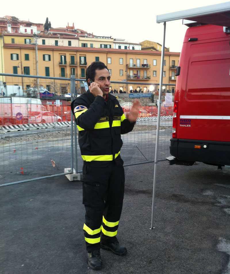 Räddningsledaren Domenico Carriero.