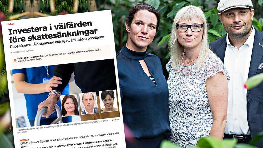 Sänkta bolagsskatter i en tid då arbetsmarknaden svajar gör att företag slipper säga upp och kan anställa, vilket i sin tur stärker vårt lands ekonomi, skriver Lina Nordquist, Malin Sjöberg Högrell och Mohamad Hassan (L).