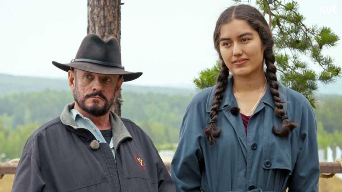 Robert Rambo och Christina Sittser får höra resultatet.