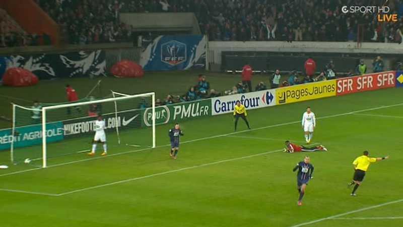 Kort innan bråket hade Zlatan gjort 1-0 för PSG på pass från Clément Chantôme.