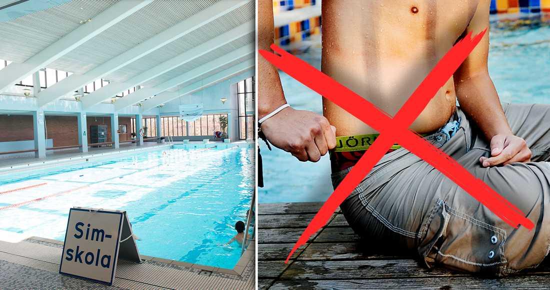 Parkbadet tar efter förbudet som finns på många andra badhus.